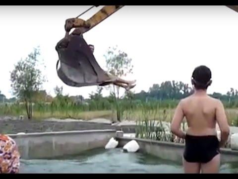 Funny Excavator Videos Excavator Tricks and Crazy Moments