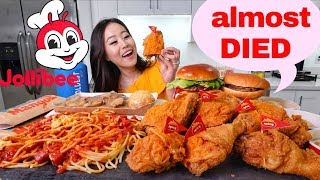 JOLLIBEE SPICY FRIED CHICKEN MUKBANG | Eating Show