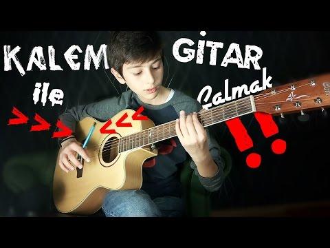!!Kalemle Gitar Çalmak - Gitardan Keman Sesi Çıkarmak!!