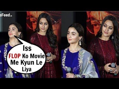 Alia Bhatt IGNORES Sonakshi Sinha At Kalank Movie Trailer Launch