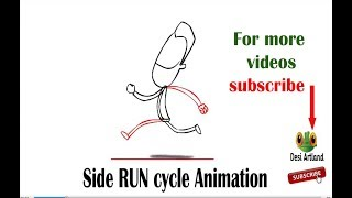 side run cycle animation  | 2D animation  |  flash animation | Classical animation