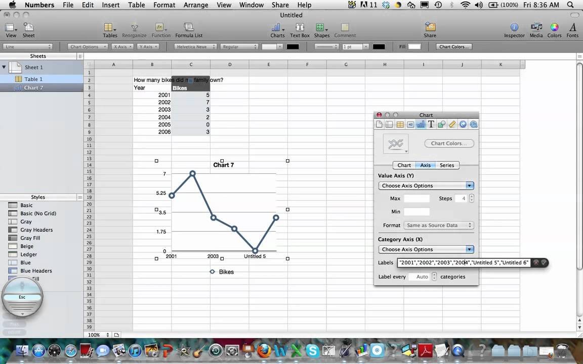 Making a line graph with mac numbers youtube making a line graph with mac numbers ccuart Images