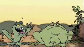 Phim hoạt hình 3d 2 con ếch tham ăn