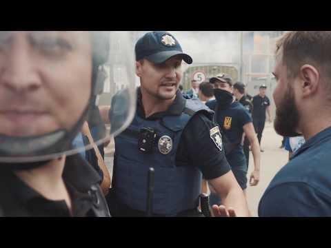 Одеса. Бійка активістів Національного Корпусу проти тітушок незаконних забудовників