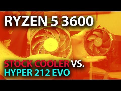 Ryzen 5 3600 Stock Cooler Temps vs. Hyper 212 Evo ( Thermals vs Wraith Stealth )