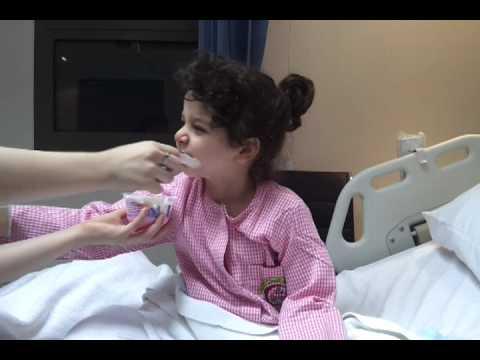 مريم لؤي بعد عملية اللوز