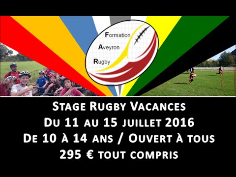 Stage juillet 2016 – Formation Aveyron Rugby