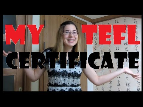 Where Did You Get Your TEFL Certificate?