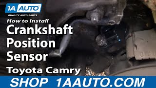All Comments On How To Install Replace Crankshaft Position