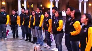 Filipino Choir Singing in Stockholm (Nobel Dinner Hall)