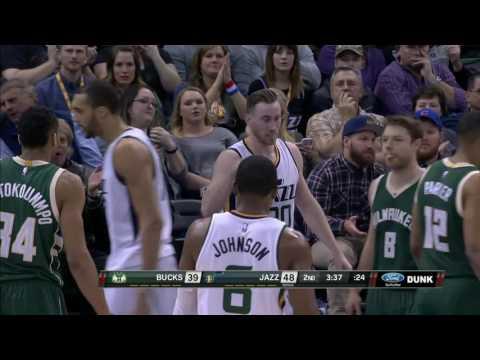Milwaukee Bucks vs Utah Jazz | February 1, 2017 | NBA 2016-17 Season