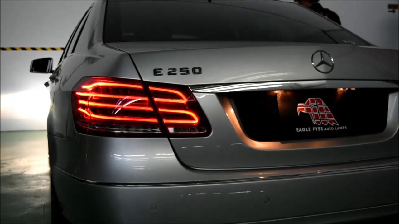 Mercedes Benz W212 Led Light Bar Tail Lamp 2009 2014 Youtube
