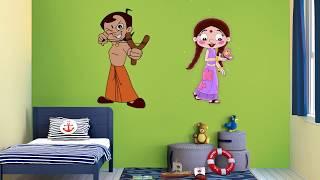 asian paints kids world chhota bheem wall themes