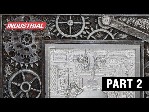 3D CNC Robot Gear Frame Carved in Wood with Solid Carbide Spiral Amana Tool Bits, Part 2 of 2 Video