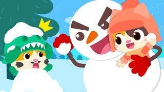 大雪人和小貓咪打雪仗 | 最新認知兒歌 | 學顏色童謠 | 安全教育動畫 | 學數字卡通 | 寶寶巴士 | 奇奇 | BabyBus