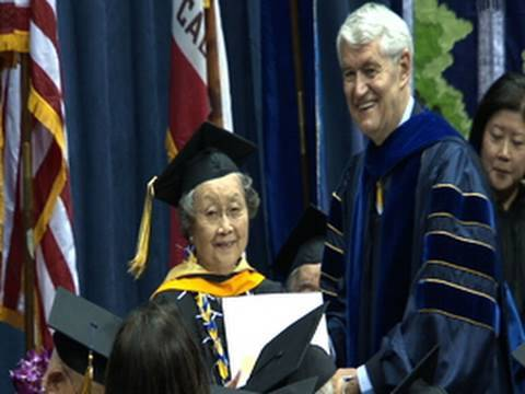 Japanese-Americans Receive 1942 Cal degrees 12/13/09