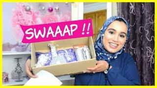 SWAAAP !! MOUNA CHANNEL تبادل الهدايا مع يوتوبوز صديقتي