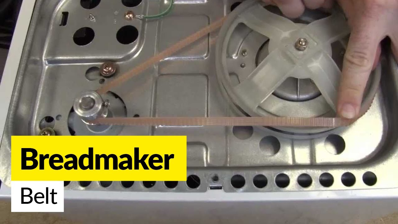 medium resolution of how to replace the belt on a breadmaker