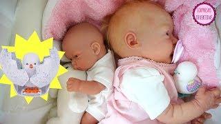 Huevo Sorpresa Pollito de juguete interactivo Little Live pets con bebes Lindea y Ben muñecas