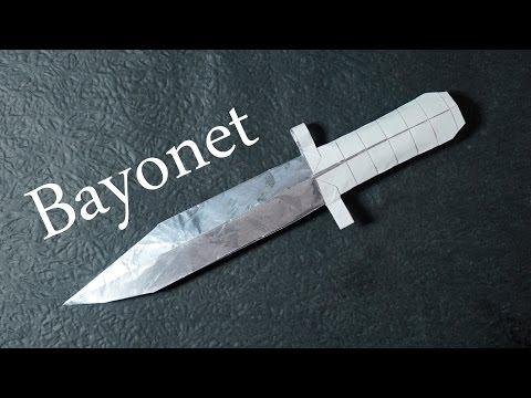 Origami Bayonet (CS:GO Paper Battle Knife) Tutorial - DIY (Henry Pham)