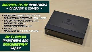 обзор функций и возможностей AndroidT2S2 приставки Gi Spark 3 Combo