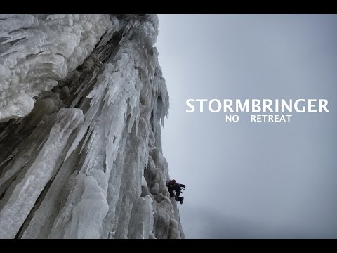 'Stormbringer- No Retreat' iceclimbing in Norway