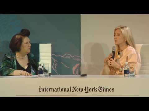 Princess Marie-Chantal in conversation with Suzy Menkes