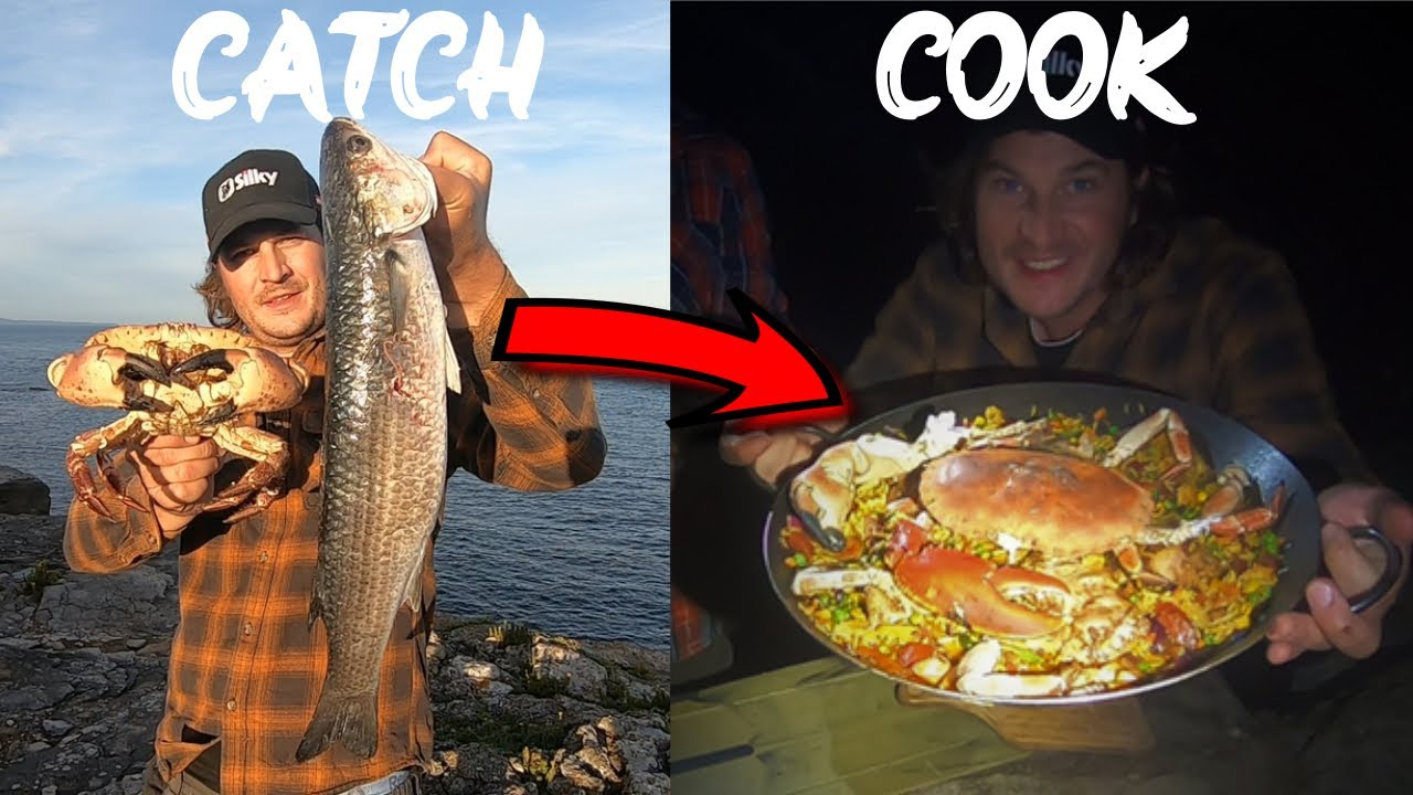 24hrs Coastal Foraging with HAZE OUTDOORS - Lobster - Crab - Fish - Catch & Cook & Campout