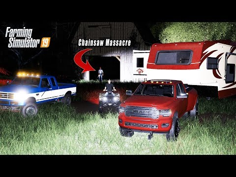 CAMPING IN HAUNTED FOREST OVERNIGHT! (BUCK GETS TAKEN) | FARMING SIMULATOR 2019