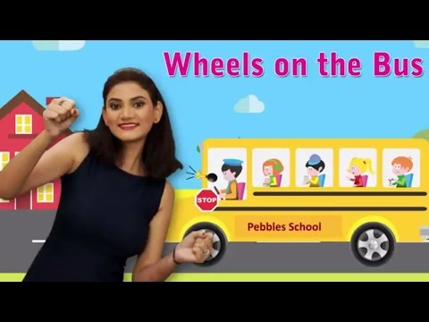 Wheels on the Bus With Actions | Wheels on the Bus Go Round and Round With Actions | English Rhymes