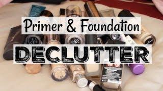 Makeup Declutter/Collection   Primers + Foundations   Katie Marie