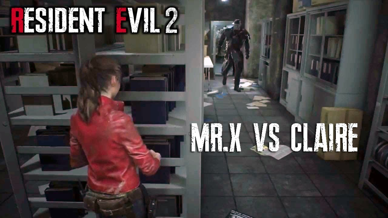 Mr X Is Coming For Claire Resident Evil 2 Remake New Gameplay No Commentary Youtube