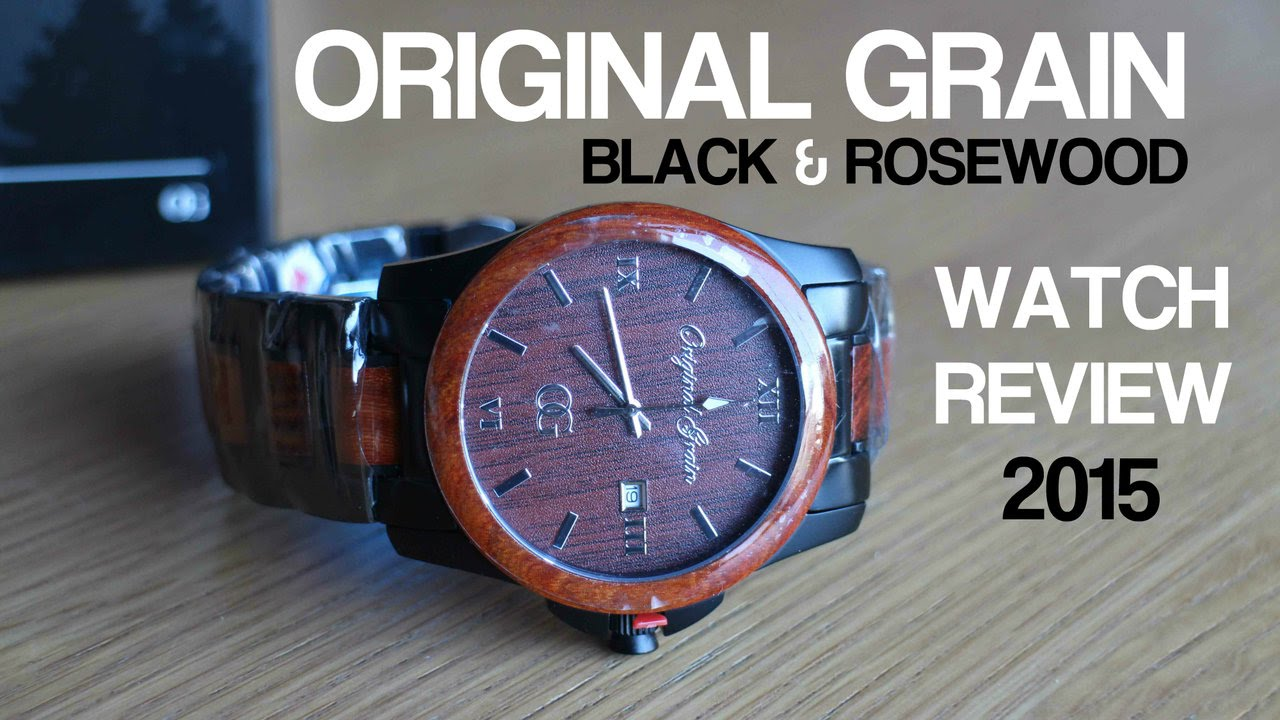 the original watch alterra products chronograph steel grain wood aviator chronogragh watches from ebony black