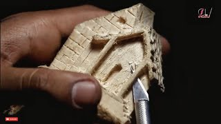 Wood Carving / Tiny house on wood