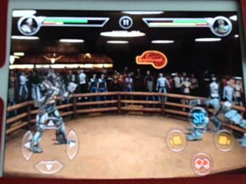 Real Steel-Free Sparring-Six Shooter Vs Aqua Bot - YouTube