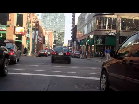 Ride home via downtown Montreal