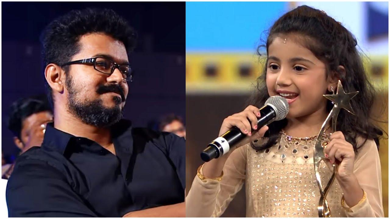 Download Theri Baby Nainika Shares Her Cute Moments With Thalapathy Vijay In Shoot Sets