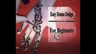 Easy Henna / Mehndi Design for Beginners | Henna Art | Ina Draws