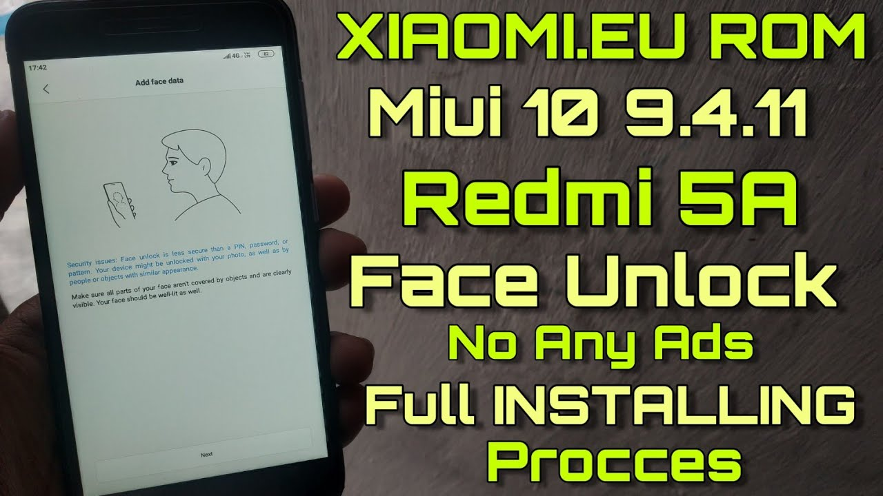 Redmi 5A Miui 10 9 4 11 For Xiaomi EU Rom - Face Unlock Enable - Installing  Process Full Tutorial