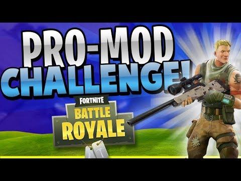 "CRAZY 40 Kill ""Pro-Mod"" Challenge WIN! (Fortnite Battle Royale)"