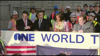 Raw Video: Obama Tours World Trade Center Site