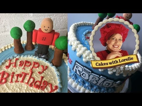 Cake Decorating Tutorial Roblox Birthday Cake - YouTube