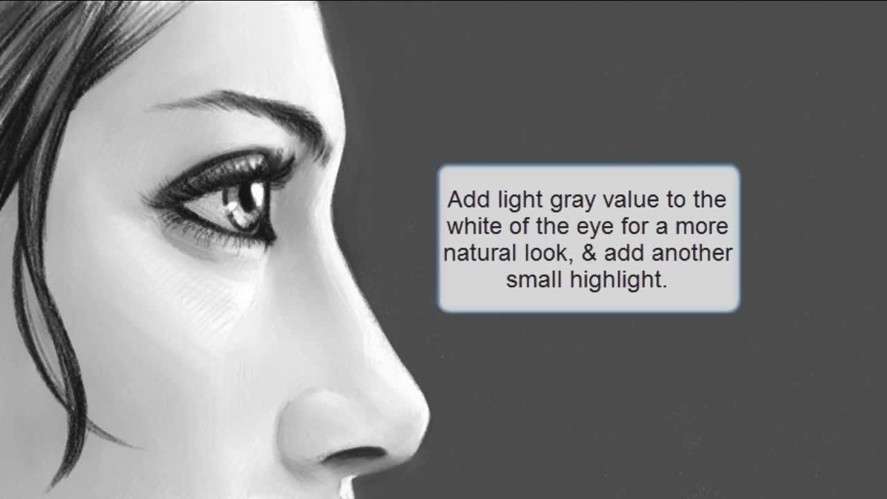 How to Draw the Eyes (Side View) - YouTube