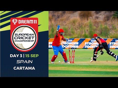 🔴 Dream11 European Cricket Championship | Day 3 Cartama Oval Spain | T10 Live Cricket
