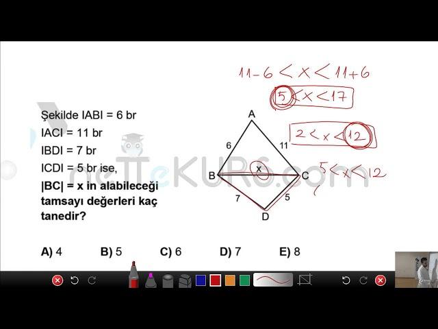 DGS Sayısal - Üçgenler Soru Çözümü / nettekurs.com Online DGS Kursu