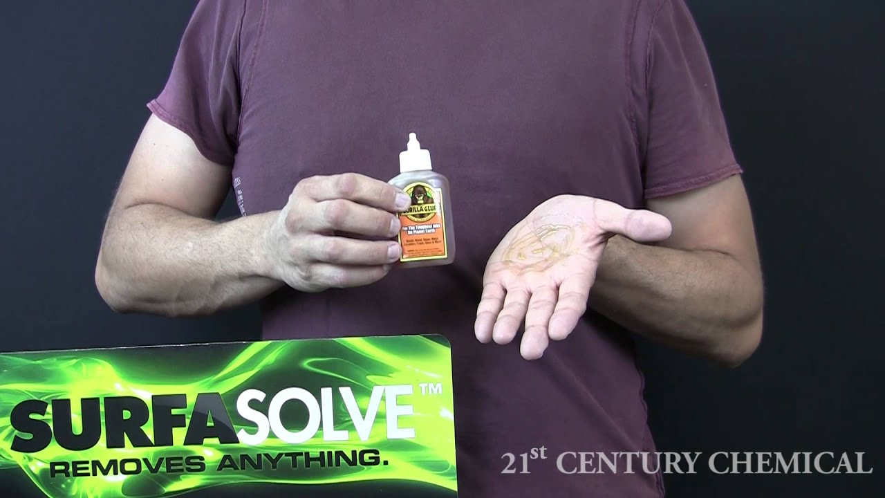 how to get rid of super glue hands