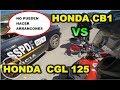 Moto HONDA  CB1 VS  CGL 125cc nos detiene la policia XD