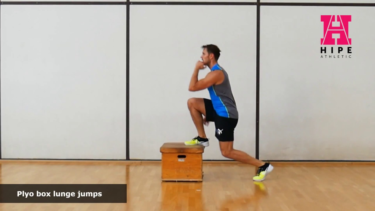 1 Plyo Box Lunge Jumps Youtube