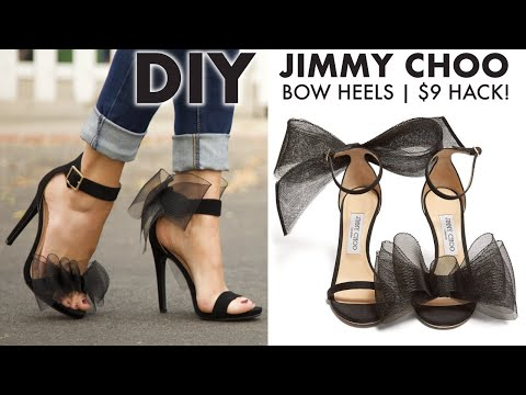 DIY: How To Make JIMMY CHOO BOW Heels ($9 HACK!) -By Orly Shani