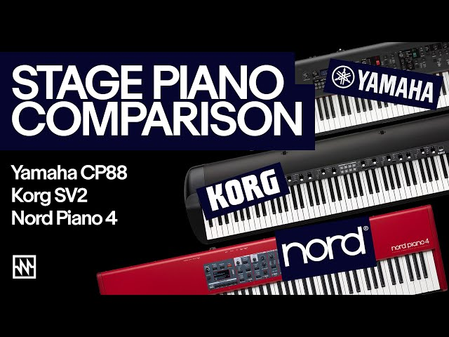 Stage Piano Comparison: Korg SV-2, Nord Piano 4 & Yamaha CP-88
